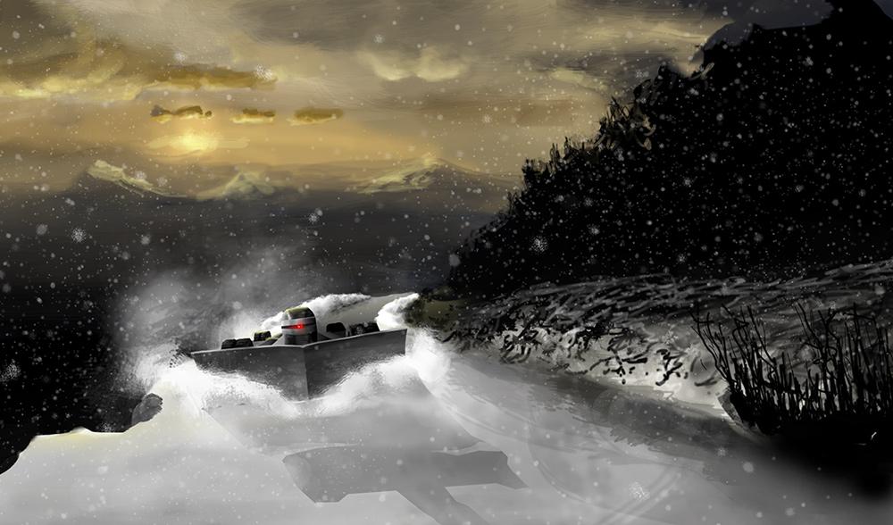 Scar from Battlestar Galactica, as a snowplow